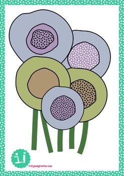 Spring flowers freebie!