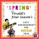 'Spring' from Four Seasons. Instrumental - Easy Guitar trio