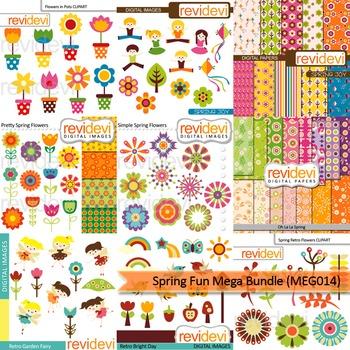 Spring fun clip art mega bundle (9 packs)