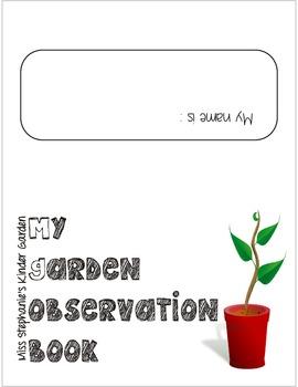 Spring garden observation booklet