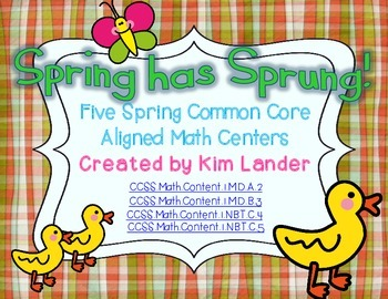 Spring has Sprung 5 Common Core Aligned Math Centers