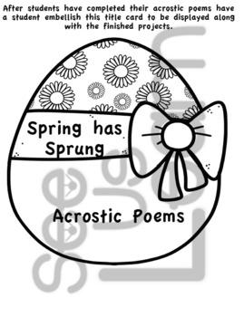 Spring Has Sprung Acrostic Poems