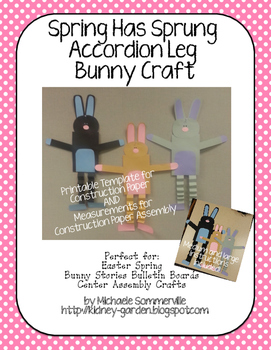 Spring has Sprung Bunny Craft