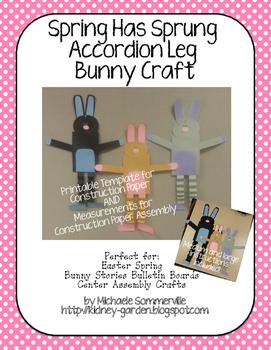Spring has Sprung Bunny Craft
