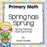 Spring has Sprung Math Activities