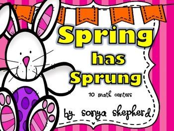 Spring has Sprung Math Center Pack
