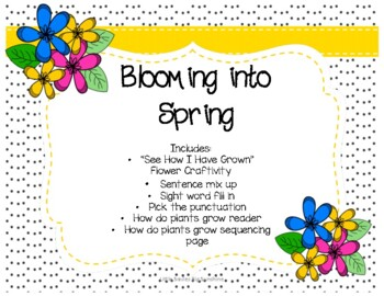 Spring has Sprung - Craftivitiy, Writing, and Addition activities