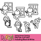 Spring house cleaning clip art (planner sticker clipart)