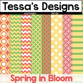 Spring in Bloom {Digital Paper Pack}