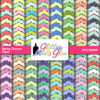 Spring in Blossom Chevron Paper {Scrapbook Backgrounds for Task Cards}