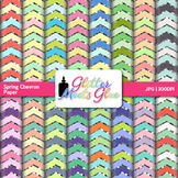 Spring Chevron Paper {Scrapbook Backgrounds for Task Cards