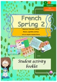 Spring in French booklet (animals, flowers, plural) for beginners