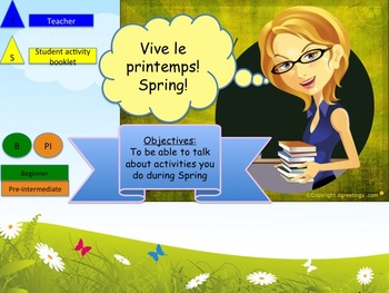 Spring in French weather and activities bundle for beginne
