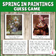 Spring in Paintings Close-Up Matching Activity