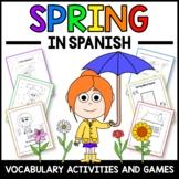 Spring Activities and Games in Spanish - La Primavera