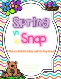 Spring in a Snap - No Prep Printables and Games