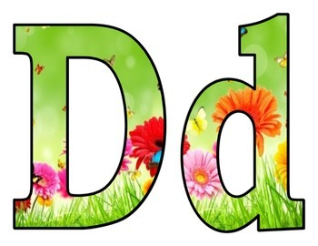 Spring in bloom Letters