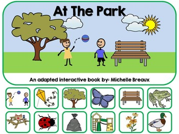 Spring in the Park Adapted Interactive Book {Autism, Early