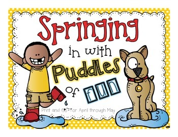 Spring in with Puddles of Fun Print and Go
