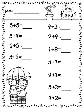 Spring into Addition Review to 10
