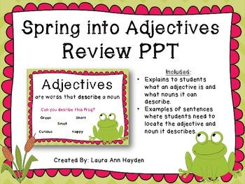 Spring into Adjectives Bundle