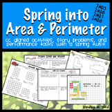 Spring into Area and Perimeter: Common Core Aligned Activities