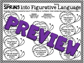 Spring into Figurative Language (Spring Literary Device Unit)