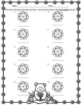 Fraction Activities with a Spring Theme