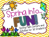 Spring into... Fun! {Spring Math Activities for First Grade}