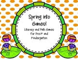 Spring into  Games!  Literacy and Math Games for Pre-K and