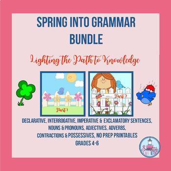 Spring into Grammar No-Prep Printables for Grades 4-6