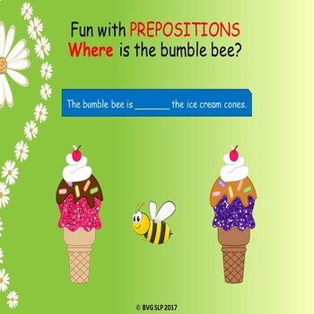 Spring into Language: Prepositions, Plurals, Pronouns NO PRINT Teletherapy