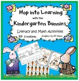 Hop into Learning with the Kindergarten Bunnies   *Literacy and Math Activities*