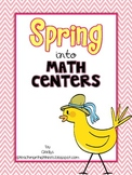 Spring into Math Centers {A math mini-unit for Little Learners}