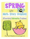Spring into Math Subtraction Word Problems