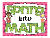 Spring into Math Work Stations