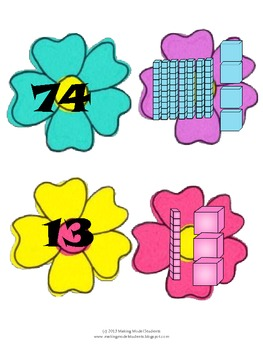 Spring into Place Value to 100 Center Activity