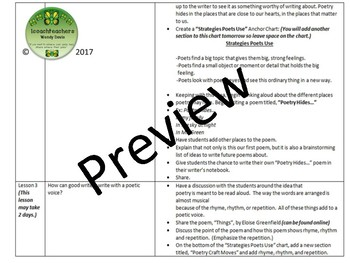 Spring into Poetry Writing Unit with Resources for Grades 3 and 4