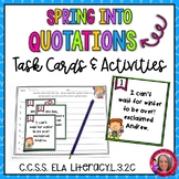 """Spring"" into Quotation Marks- Quotation Mark Activities"