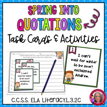 """""""Spring"""" into Quotation Marks- Quotation Mark Activities"""