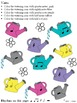 Music Worksheets: Music Math Spring into Rhythm 3 {Watering Cans Edition}