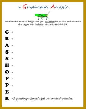 Spring into Sentences