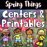 Spring Worksheets and Centers Bundle