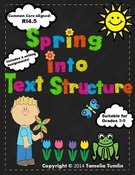Spring into Text Structure Unit Common Core Aligned (RI.4.5) Grades 3-5