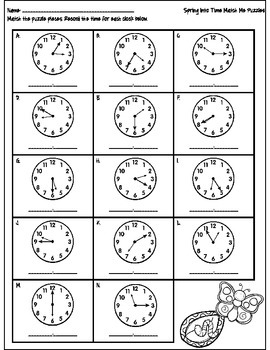 Spring into Time Activities {Telling Time to the Nearest 5 Minutes}