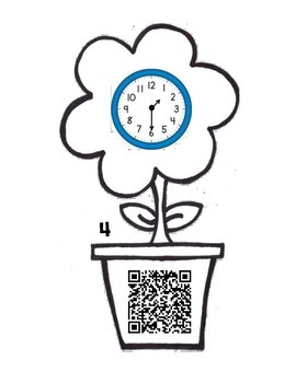 Spring into Time to the Hour and Half Hour with QR Codes.