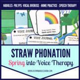 Spring into Voice Therapy Straw Phonation for Speech Therapy
