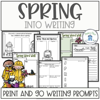 Spring into Writing - Print and go