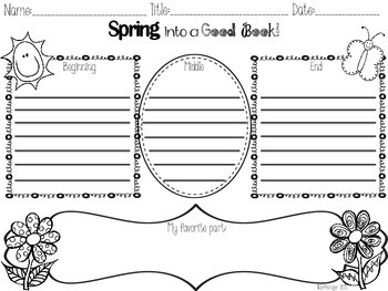 Spring into a Good Book: Graphic Organizers