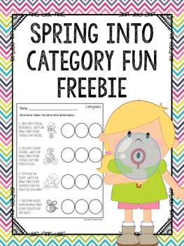 Spring into Category Fun FREEBIE